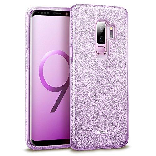 ESR Glitzer Hülle für Samsung Galaxy S9 Plus, Sparkle TPU Schutzhülle, 3-Schicht, Kabelloses Laden kompatibel, Handyhülle für S9+ 6,2