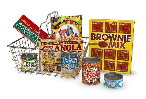 Melissa & Doug Shopping Basket with Food (Food Truck-zubehör)