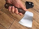 Handwerker Gebildet Camping und Bushcraft Hatchet - 01 Kohlenstoff-Werkzeugstahl und Walnut