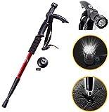 Lista Adjustable 9 LED Anti Shock Trekking Hiking Pole Vault Stick - 53 inch (135 cm) (Multicolor)