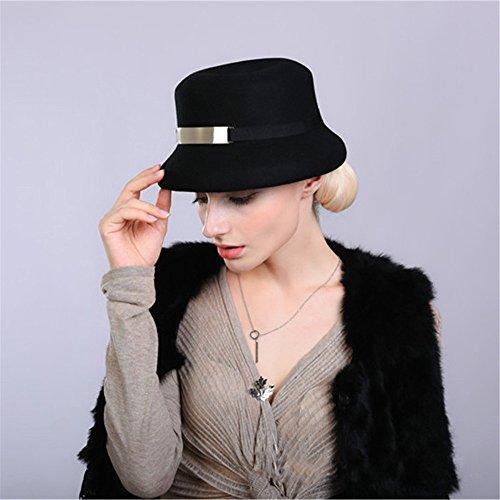 Chapeau Pillbox Serre-Tête Casquette De Cérémonie Femme Fille Élégant Raffiné Noir