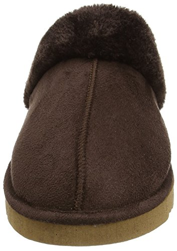 Dunlop - Pantofole, donna Marrone (Cioccolato)