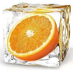 Eurographics DG-DT5174 Deco Glass, Glasbild, Orange Cube, 20 x 20 cm