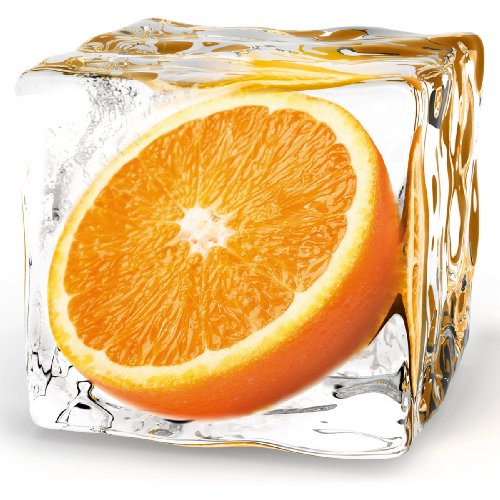 Eurographics DG-DT5174 Deco Glass, Glasbild, Orange Cube, 20 x 20 - Glas-cube-bild