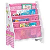 HelloHome Butterflies and Flowers Kids Sling Bookcase