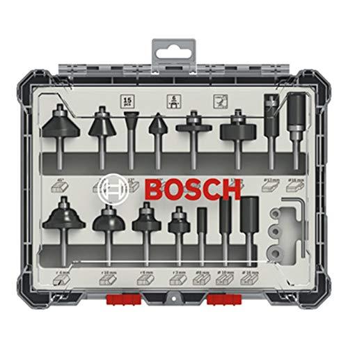 Bosch Professional 2607017471 Juego 15 Fresas Madera