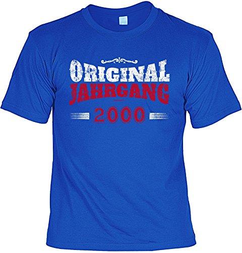 T-Shirt zum Geburtstag - Original Jahrgang 2000 - Geburtstagsgeschenk - Fun shirt - Geschenkidee - royalblau Royalblau
