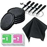 LS Photography 67mm Snap-on Universal Lens Cap(x5) & Lens Cap Holder(x5) & Black SuperFiber Cleaning Cloth(x1) & Wet/Dry Wipes(x5)