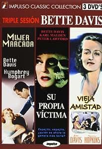 Bette Davis Pack - Marked Woman / Dead Ringer / Old Acquaintance (Mujer Marcada / Su Propia Victima / Vieja Amistad) Spanish PAL region 2 import, plays in English