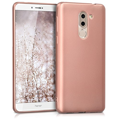 kwmobile Huawei Honor 6X / GR5 2017 / Mate 9 Lite Hülle - Handyhülle für Huawei Honor 6X / GR5 2017 / Mate 9 Lite - Handy Case in Metallic Rosegold