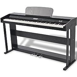 vidaXL 88 Tasten Elektro Klavier Digital E-Piano 3 Pedale Keyboard 150 Sounds