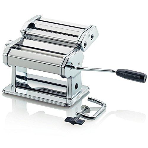 Macchina per la Pasta Tivoli / Prepara pasta fresca fatta in casa / 20,5 x 20 x 15,5 cm / Pasta fresca Rapida e Semplice/ Metallo Cromato