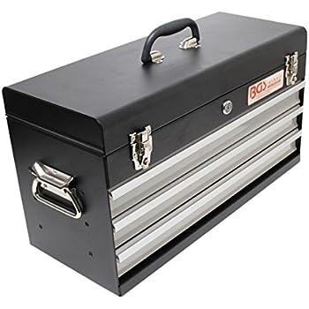 homcom werkzeugkasten werkzeugkoffer werkzeugkiste metall 540x290x220mm schwarz. Black Bedroom Furniture Sets. Home Design Ideas