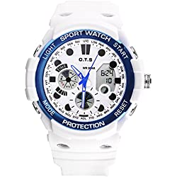 Dual sport watch/Waterproof digital watches/Simple casual watches-C