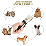 Sminiker Pet Grooming Clippers Low Noise Dog Clippers Cordless Pet Clippers Rechargeable Pet Hair Shaver Professional… 17