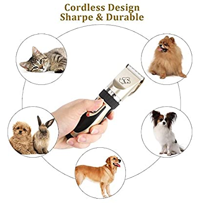 Sminiker Pet Grooming Clippers Low Noise Dog Clippers Cordless Pet Clippers Rechargeable Pet Hair Shaver Professional… 8