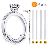 Elimoons Ring Size Adjuster Loosing Ring Finger Sizer Gauge - Ring Sizer, Ring Guard, 4 Sizes Fit Any Rings, Pack of 16(1.2mm/2mm/3mm/4mm)