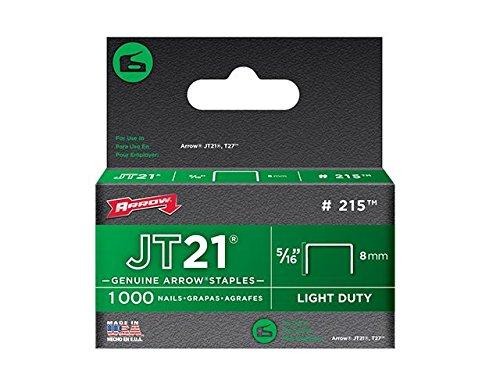 """Arrow–JT21T27Agrafes 8mm (5/16"""") Boîte de 5000"""