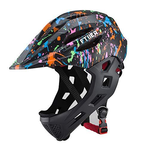 Casco da bambino, casco da pattinaggio a rotelle con luci a LED, bicicletta, passeggino scorrevole, casco da bambino-2-43-54cm