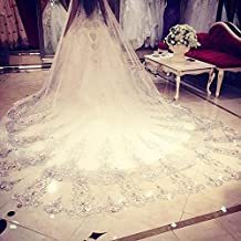 Encaje de boda UKBIOLOGY con encaje de purpurina para fiesta, 3,5 metros de