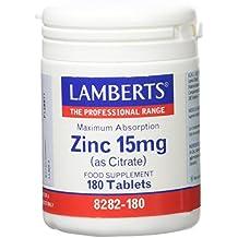 Lamberts Zinc 15mg - 180 Tabletas