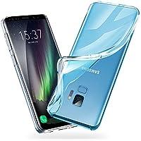 Galaxy S9 Hülle - vau SoftGrip Case - Handy Schutz-Hülle Silikon Rückseite (transparent clear)