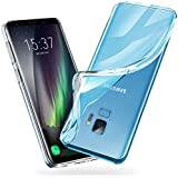 vau Galaxy S9 Hülle SoftGrip Case - Handy Schutz-Hülle Silikon Rückseite (transparent clear)