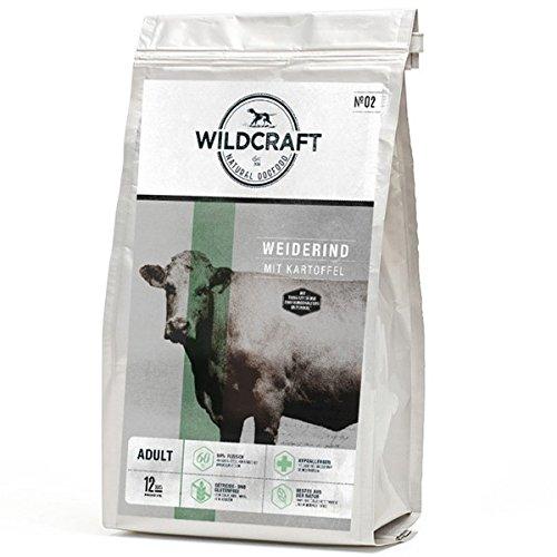 Wildcraft   Weiderind mit Kartoffel   12 kg   getreidefreies Hundefutter   hoher Fleischanteil   gut verträglich   Trockenfutter für gesund glänzendes Fell   Monoprotein Allergiker