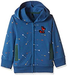 United Colors of Benetton Boys Sweatshirt (16A3067C171EI901EL_Blue and Multicolored)