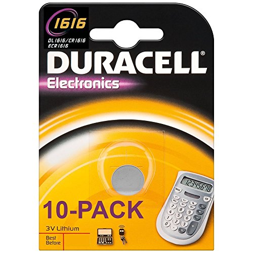 Packung mit 10 x Duracell 3 V DL1616 CR1616 Lithium Batterie (Duracell Batterien 1616)