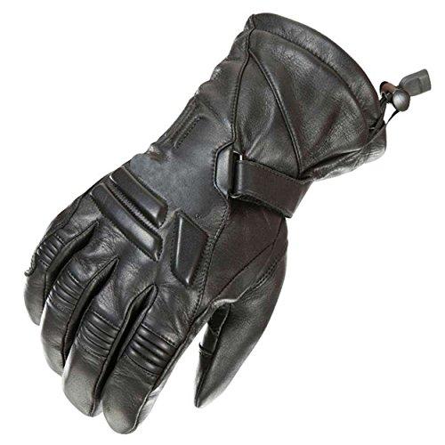 newfacelook Schwerlast Herren Leder Motorrad Handschuhe Wasserdichte Motorrad Sport, Black, M -