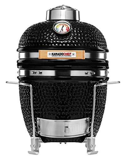 Kamado Chef 1100 Prestige Diamond Black ceramic barbecue grill and smoker for searing, roasting, smoking � The Extraordinary Cooking Experience