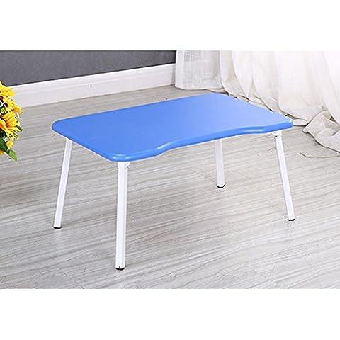 KHSKX Scrivania portatile elegante, minimalista, letto per comprimere la tabella riassuntiva delle pigrone, impermeabile scrittura apprendimento piccola scrivania , blue