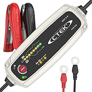 CTEK MXS 5.0 Fully Automatic Battery Charger (Charges, Maintains and Reconditions Car and Motorcycle Batteries) 12V, 5 Amp - UK Plug