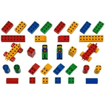Klein 0650 - Jeu de construction - Set Ecole Manetico 32 pièces et 6 cartes, sous sachet
