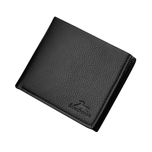 iVotre Kurze Retro - Stil Brieftasche Mit Lichee - Muster, Multi - Card Slots, Pu - Leder, Bild - Inhaber, Neue Handtasche, Beste Geschenk Für Freunde - Kaffee black