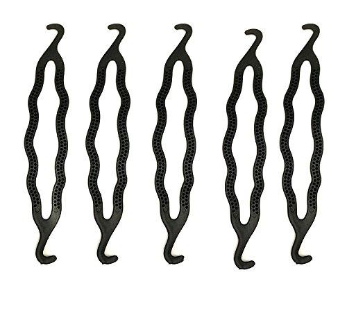 6Stück Kunststoff Bun Maker Curler/Haar Halter Twist Halter Clip Magic Rolle Bun Haar Twist Braid Werkzeug (Kunststoff-wrap Breite Extra)