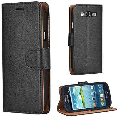 Leaum Galaxy S3 Hülle Handyhülle Brieftasche Leder Tasche Flip Case für Samsung Galaxy