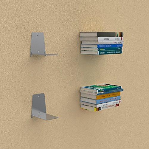 Ve.ca.s.r.l. 2, 2 reggilibri invisibile libreria mensola design per libri sospesi alluminio …