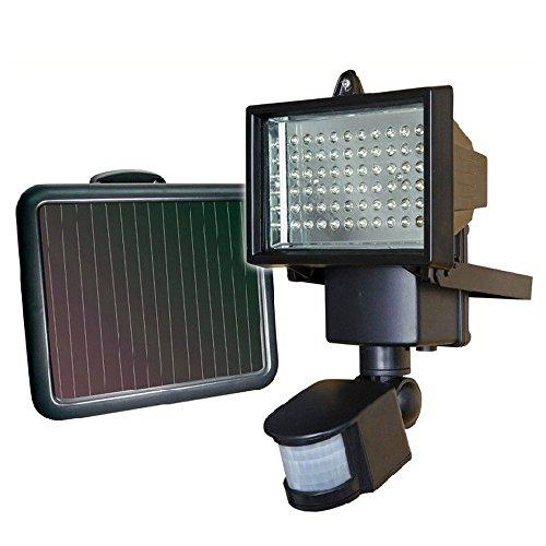 SZYSD 60 LED Solarlampe Solarleuchte Außen Solarstrahler Bewegungsmelder Leuchte