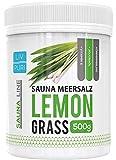 Sauna Meersalz Peeling Salz Saunasalz I Lemongrass 500g I mit Jojobaöl I Kosmetik für die Haut I Ideale Wellness