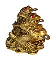 Fangshui Triple Toad (frogg) with coin for prosperity 3 three legged Toad with coin in his mouth is supposed to be a very auspicious animal. It is supposed to increase and protect your wealth and prosperity. However, the placement of this toad is ver...