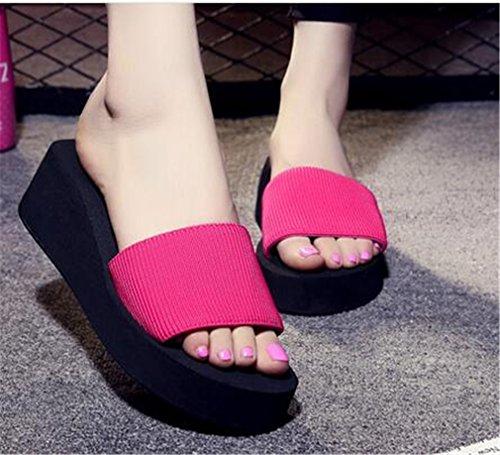 Summens Femmmes Neuf Tongs Flops pente avec des sandales Rose