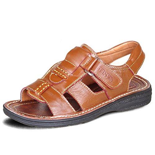 Sandales d'homme/Été sandales respirante/Angleterre, souliers de plage avec des semelles épaisses B