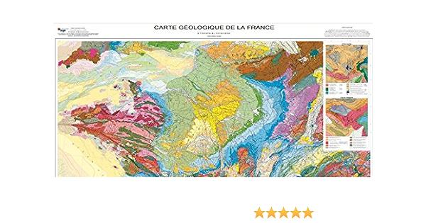 Amazon Fr Carte Geologique De La France 1 1 000 000 Cartes Brgm Livres