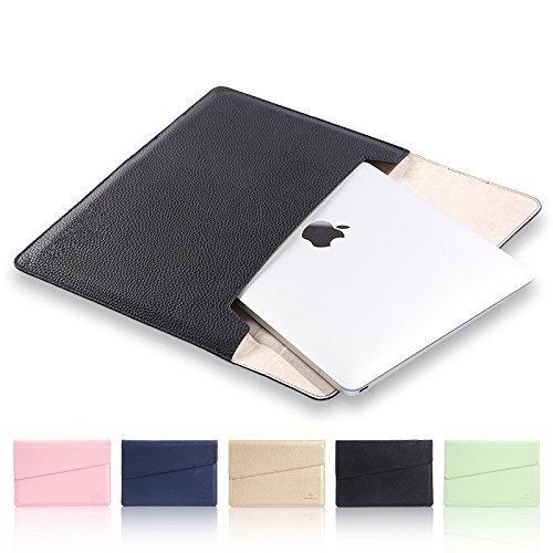 elecfan Laptophülle 27,9cm MacBook-Tasche Tablet-Tasche, weiche PU-Leder Notebook-Tasche, Tragehülle, Schutzhülle für alle Displays mit 11Zoll/11,6Zoll