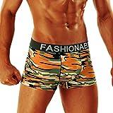 Men Sexy Boxer Binggong Homme Underwear Sexy Cosy Camouflage Homme Translucide Pochette en Nylon Caleçon Doux