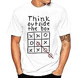 BURFLY Oversize T- Shirt Herren, 2018 Mode Männer Druck O-Neck Tees Oversize Shirt Kurzarm T Shirt Bluse (L, Weiß)