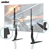 UNHO TV Pieds Support sur Table Hauteur Adjustable Inclinaison pour Ecran Plasma LED LCD OLED Plate TV de 17 à 55 Pouces Universel Support Téléviseur Double Bras VESA Max 400x600mm Charge 40KG