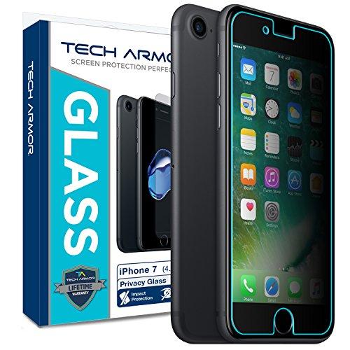 Tech Armor - Displayschutz aus Panzerglas für Apple iPhone 7 / iPhone 8 Apple iPhone 7/8 (4.7 inch) - Blickschutz - 1 Stück (Transparente Display-projektor)